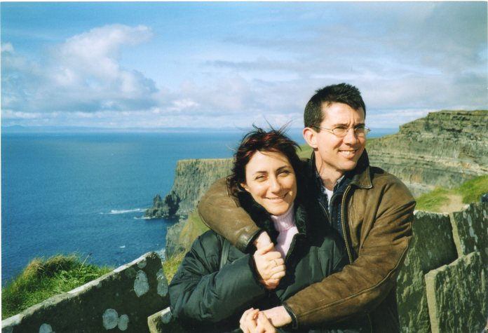 Holiday at Home, Paul and his wife, Barbara, at the Cliffs of Moher